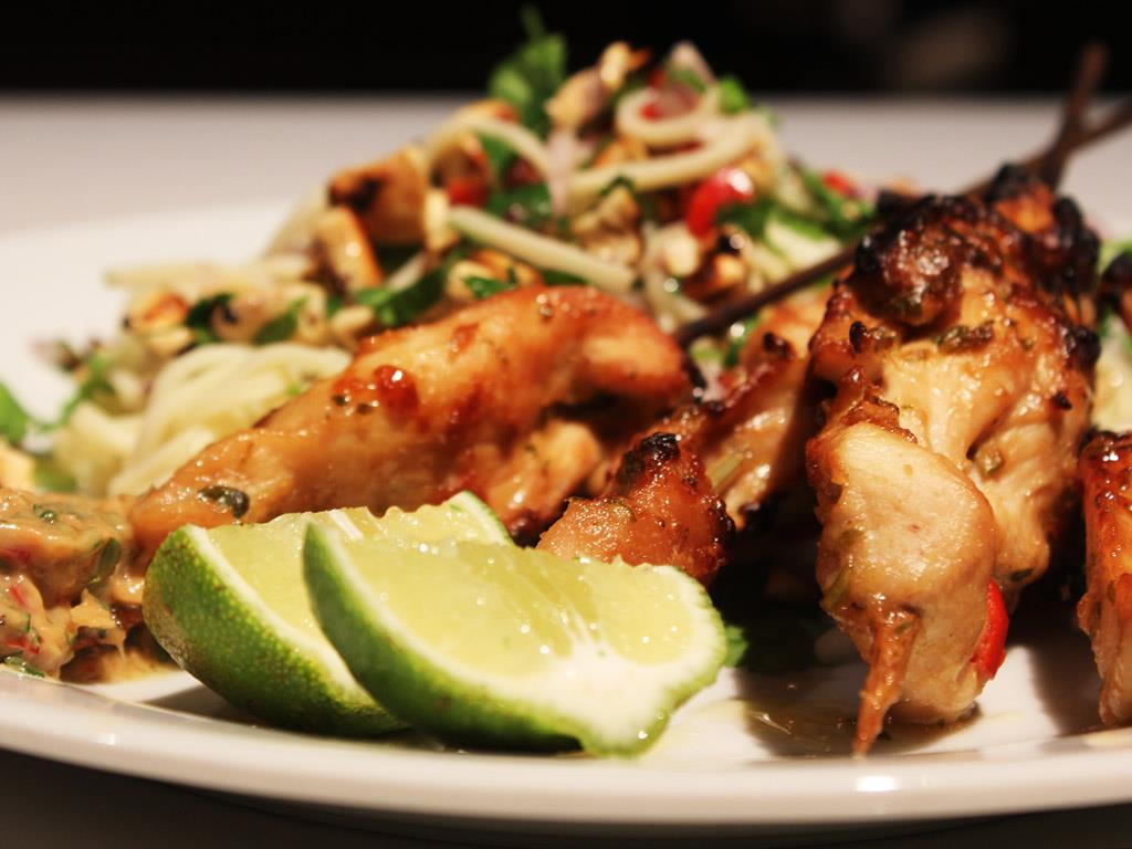 Solo: Chicken Satay with Fiery Noodle Salad