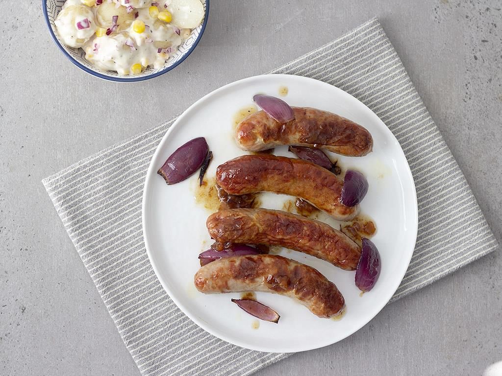 Solo: Sticky Sausages & Potato Salad