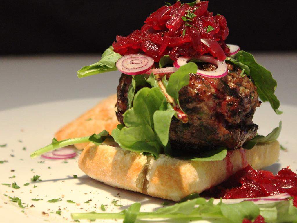 Solo: Herby Lamb Burgers with Beetroot Chutney