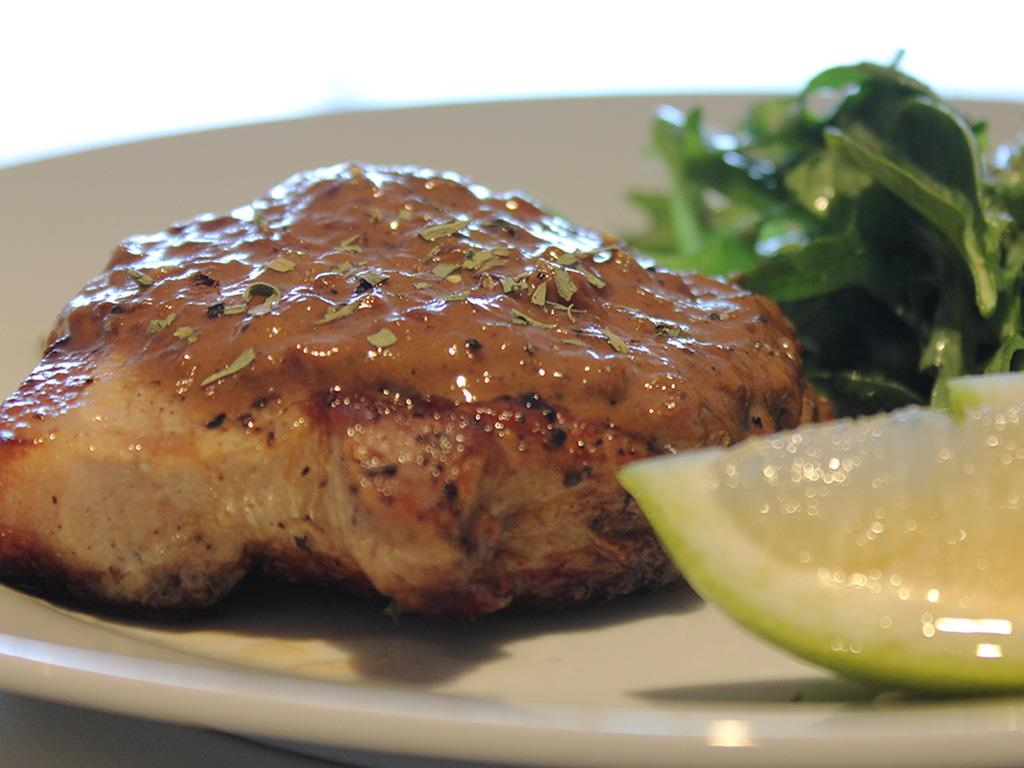 DNUSolo: Pork Chops with Mustard Sauce