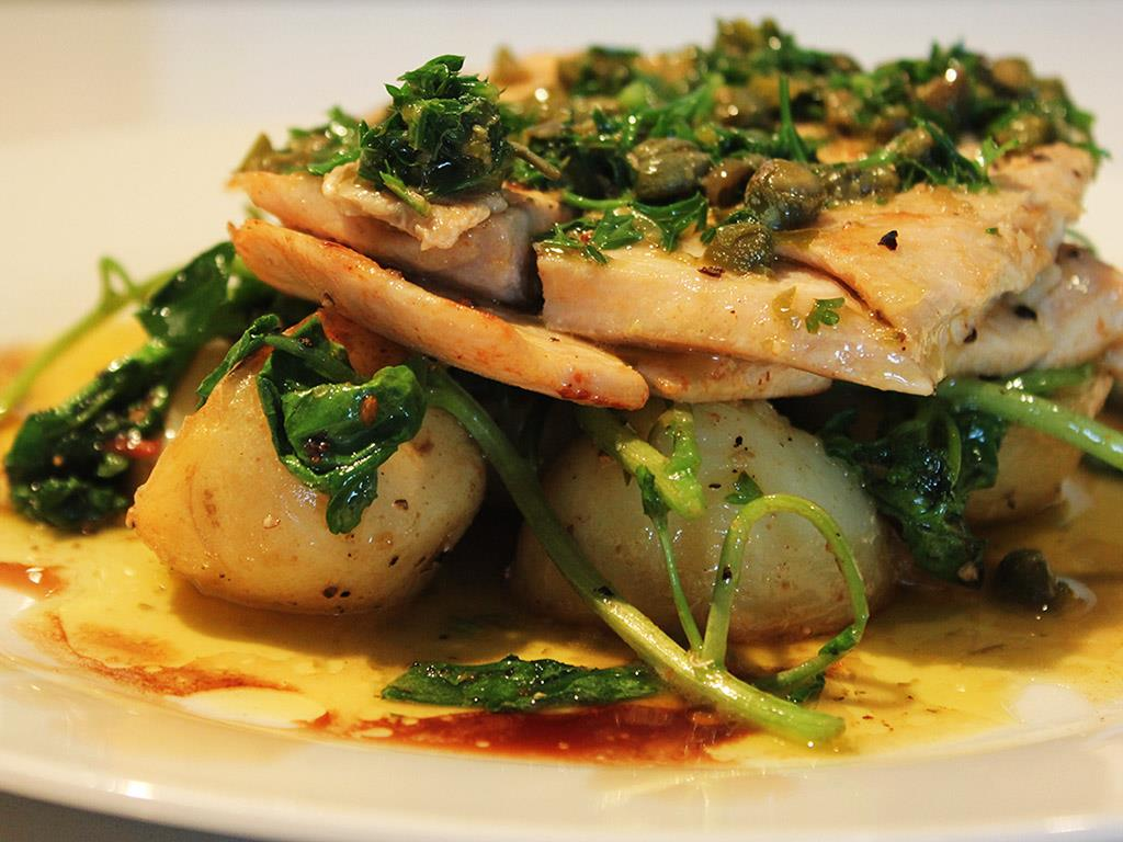 Angelfish with Caper Butter
