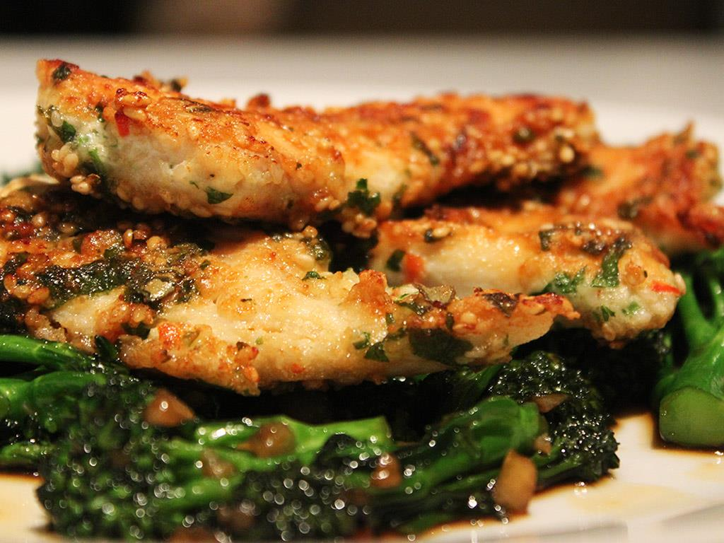 Crispy Thai Chicken & Stir-Fried Greens Recipe - Daily Dish Recipe ...