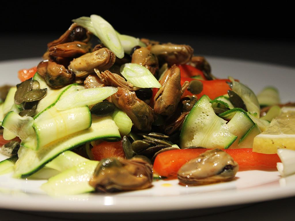 Courgette & Smoked Mussel Salad