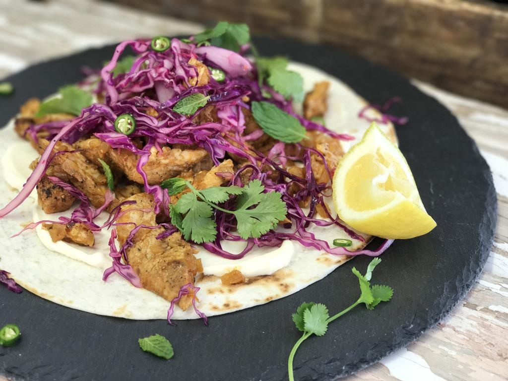 Dhania Chicken Wraps