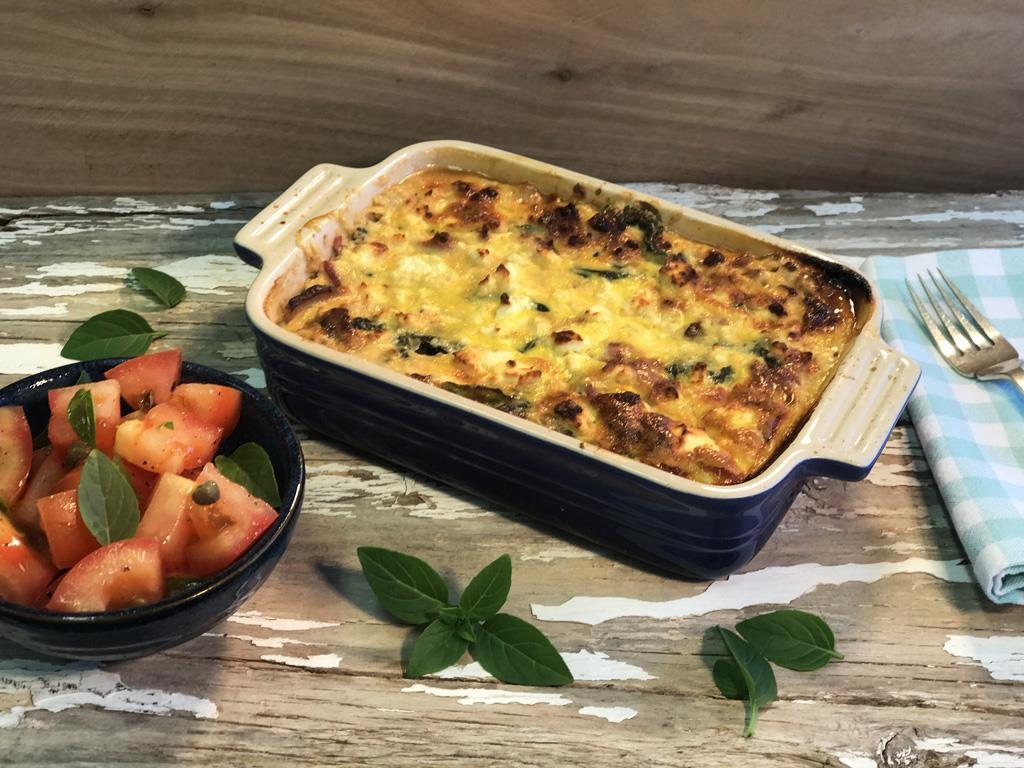 Solo: Bacon & Spinach Bake
