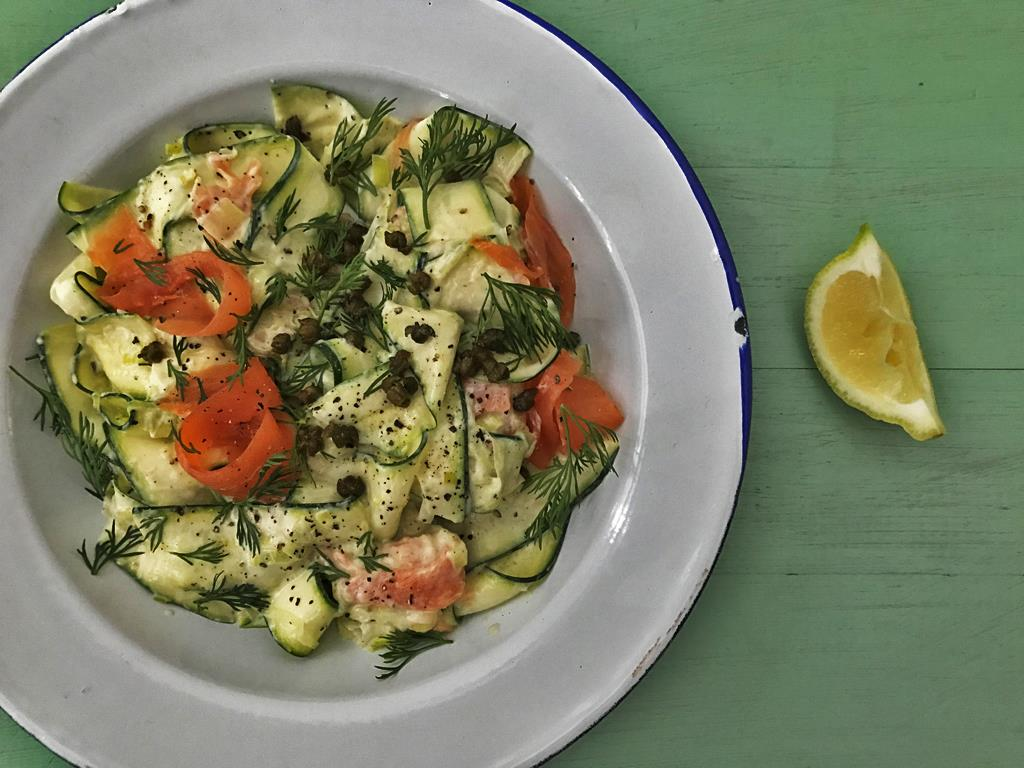 Creamy Trout & Courgettes