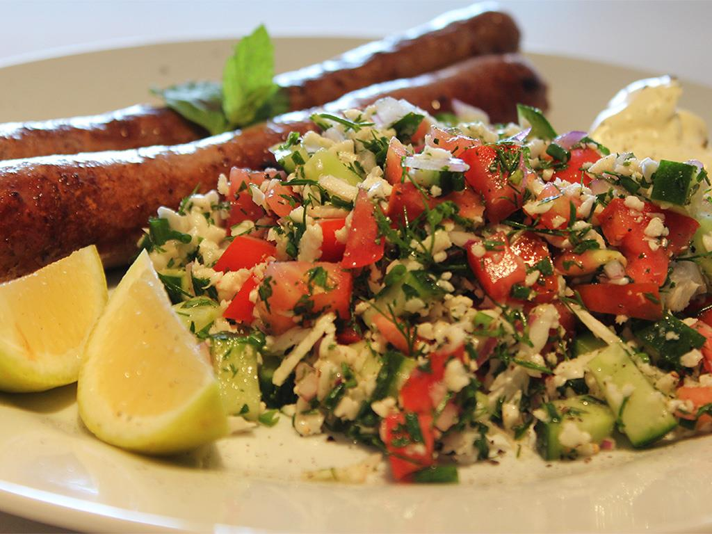 Beef Sausages & Tabbouleh