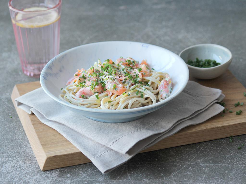 Smoked Trout Noodles