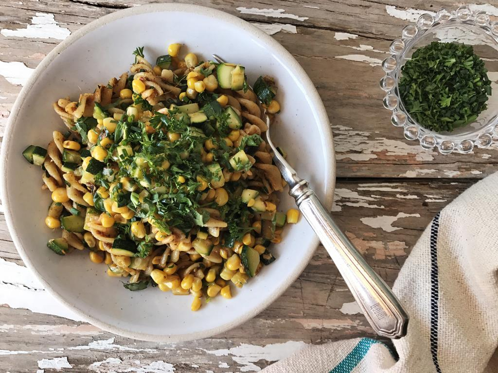 Sweetcorn Fusilli