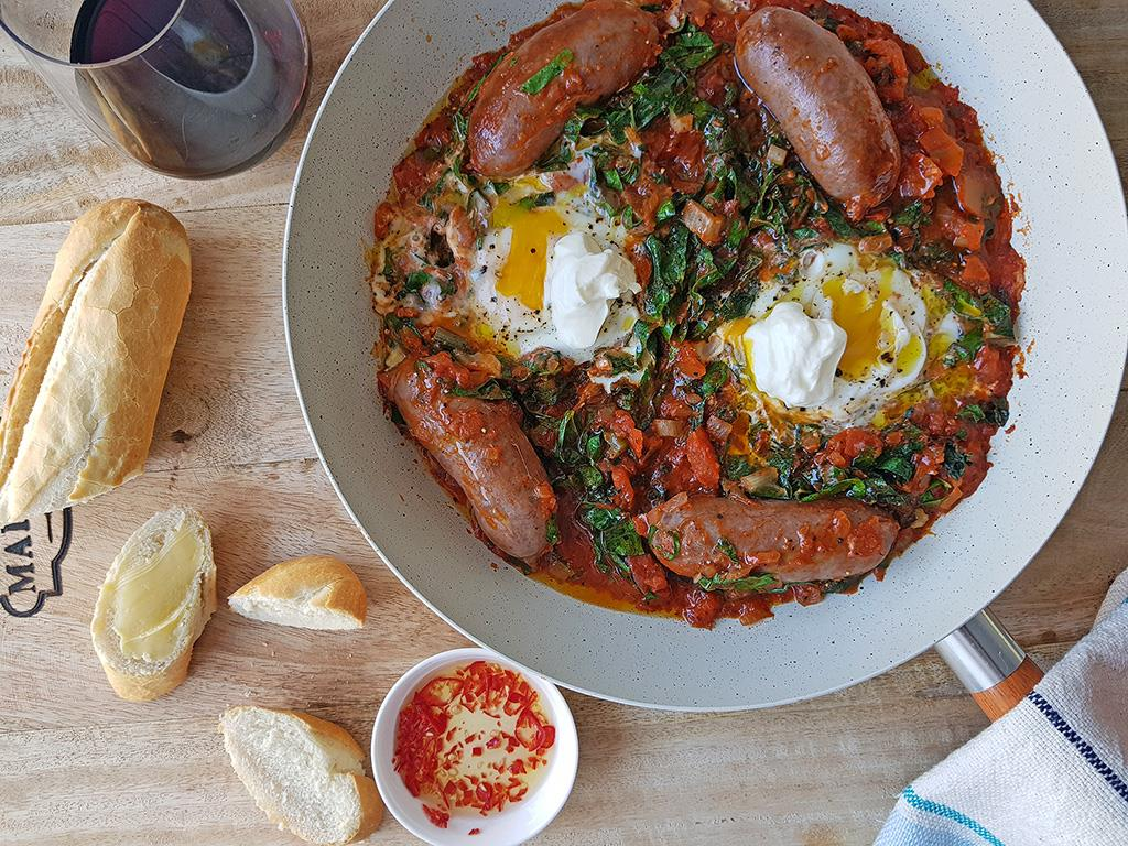 Solo: Baked Eggs & Sausages