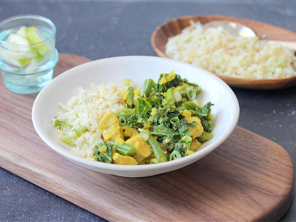 Turmeric Kale Curry