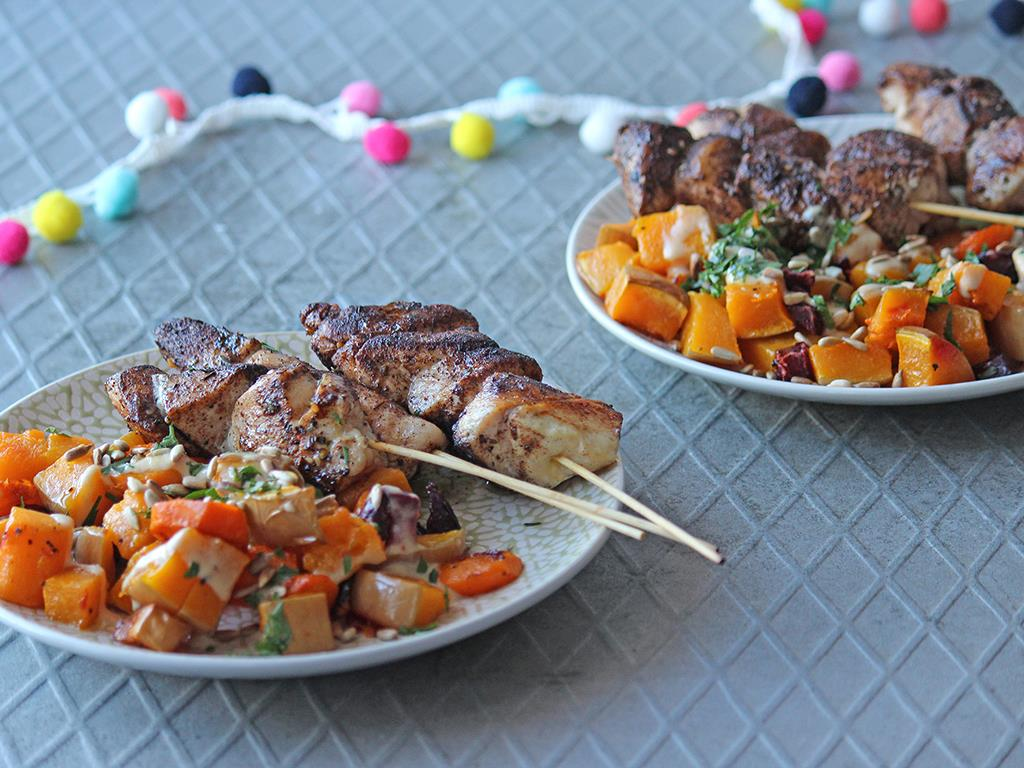 Baharat Chicken Skewers