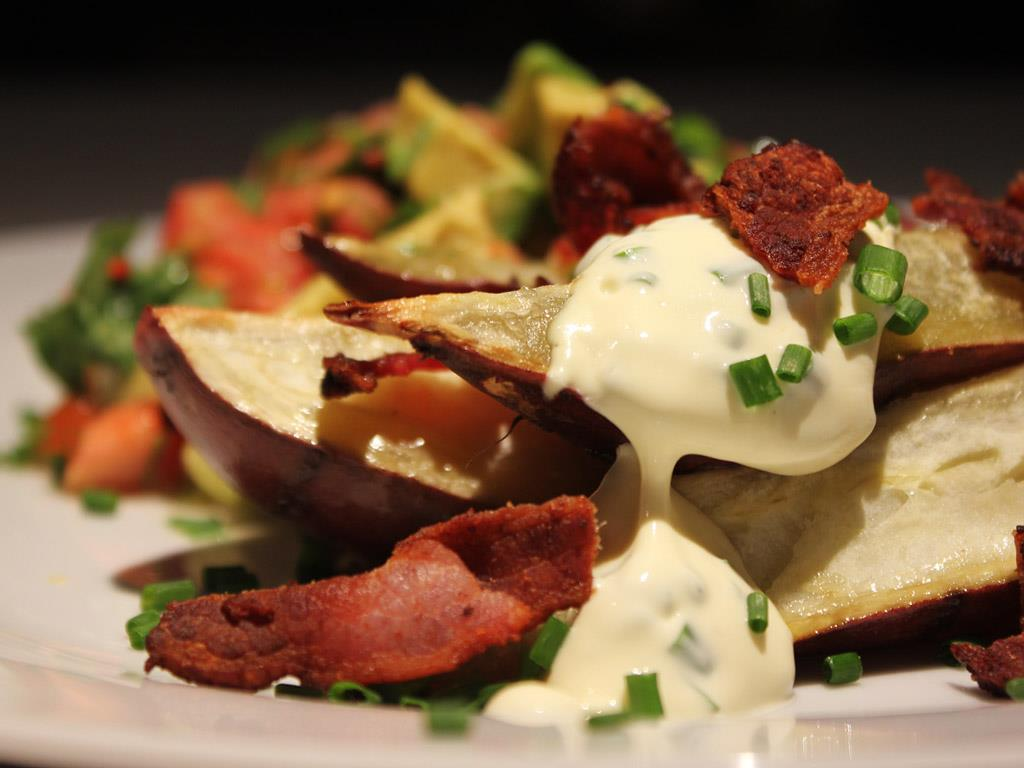 Solo: Baked Sweet Potato, Bacon & Chive Sour Cream