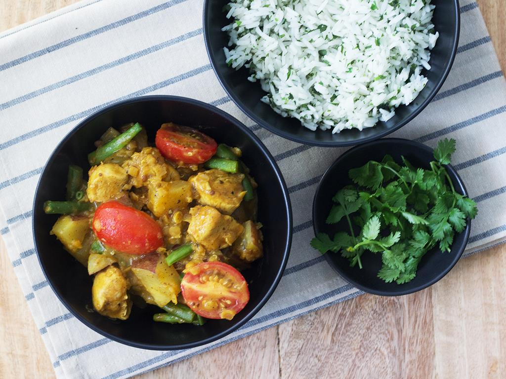 Chicken Curry & Coriander Rice
