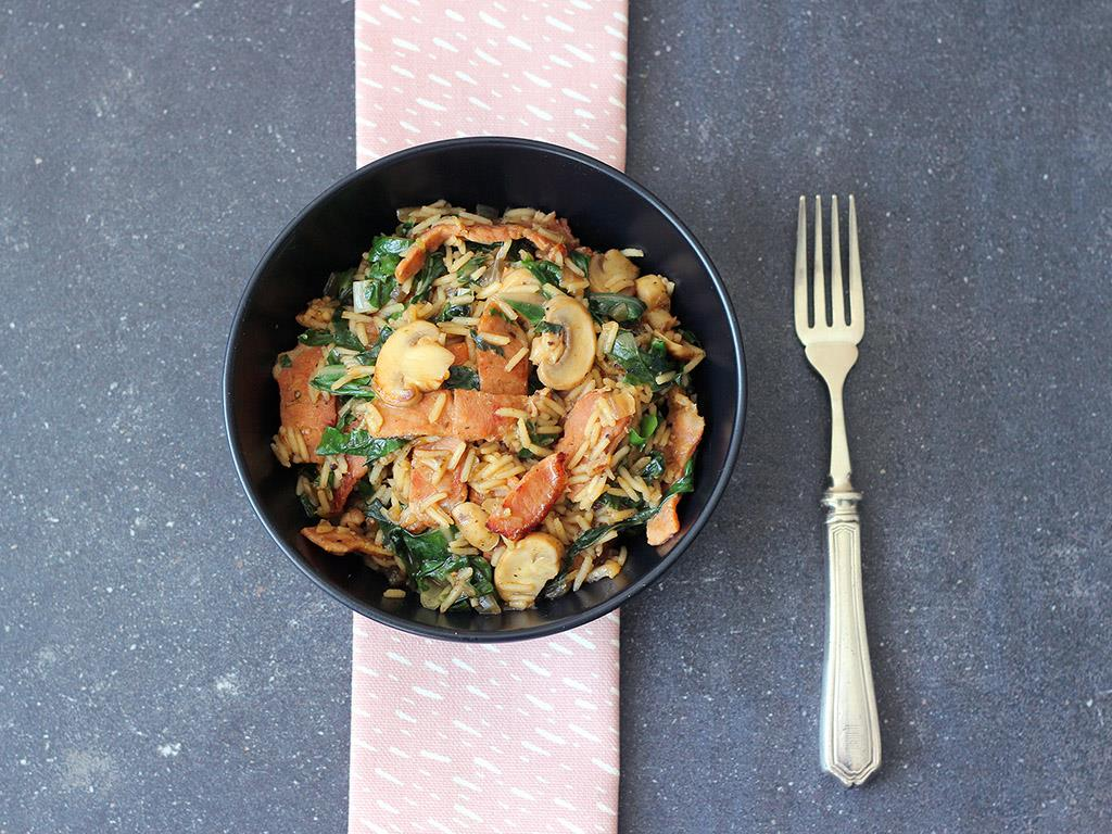 Spinach & Bacon Pilaf