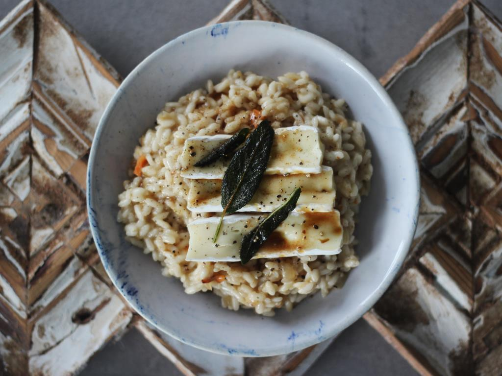 Risotto with Crispy Sage & Brie