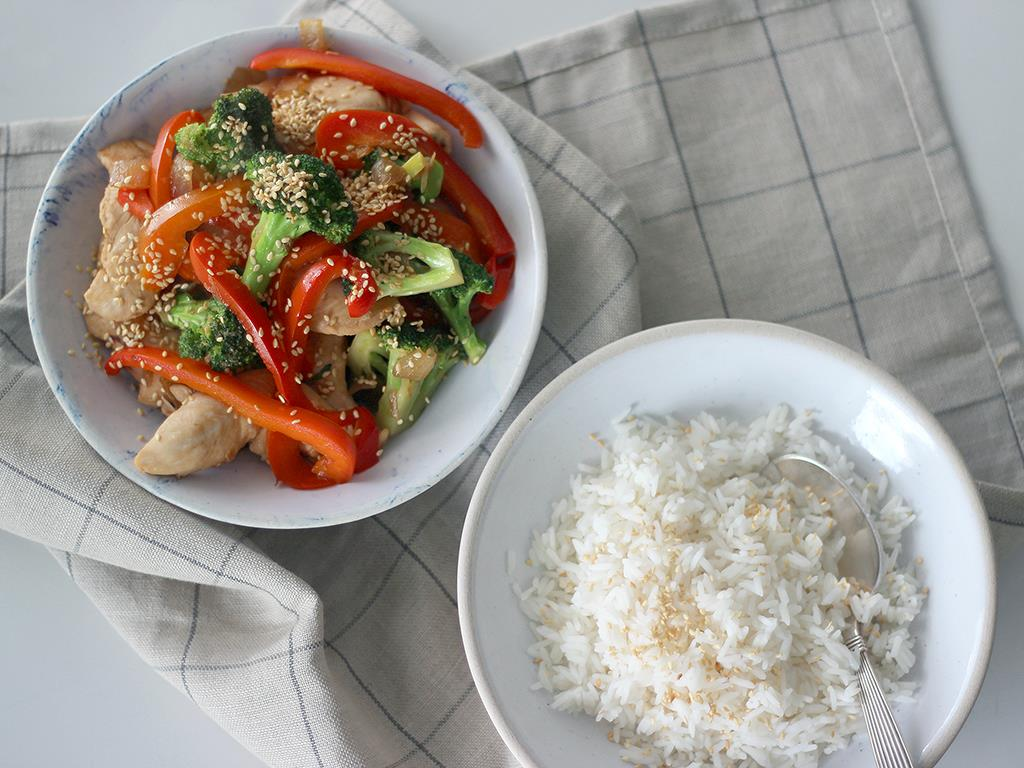 Solo: Chicken Stir-Fry with Rice