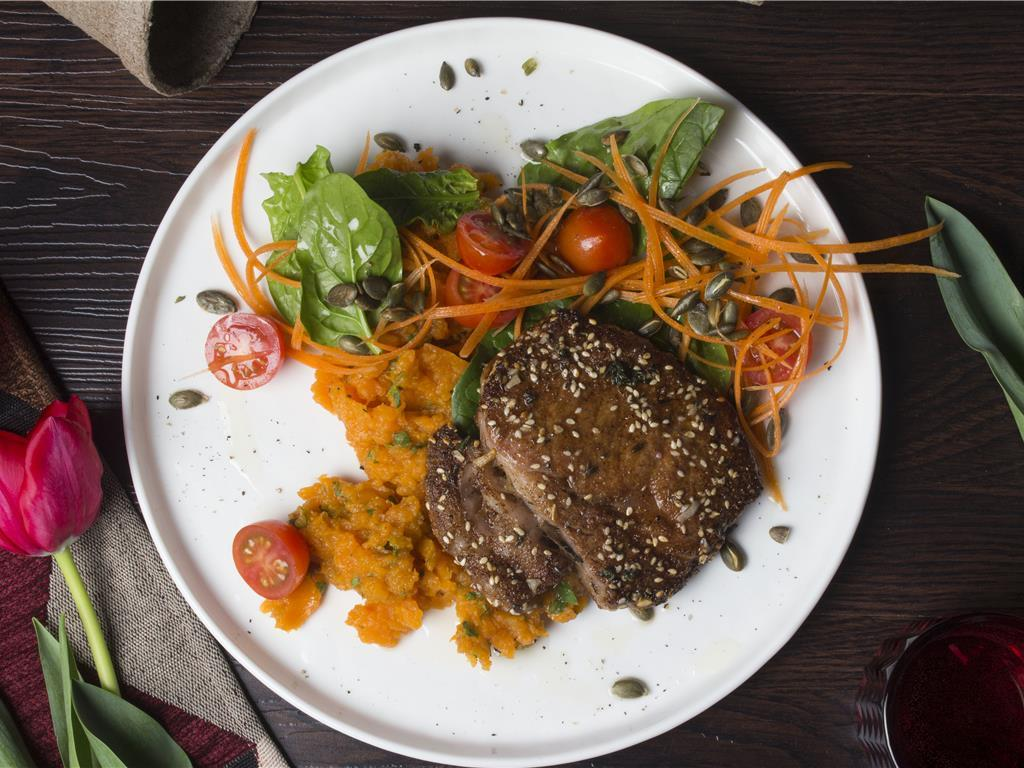 Dukkah Spiced Beef and Carrot Salad