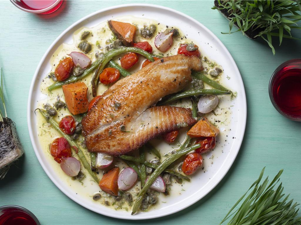Herb Butter Tilapia with Crispy Potatoes
