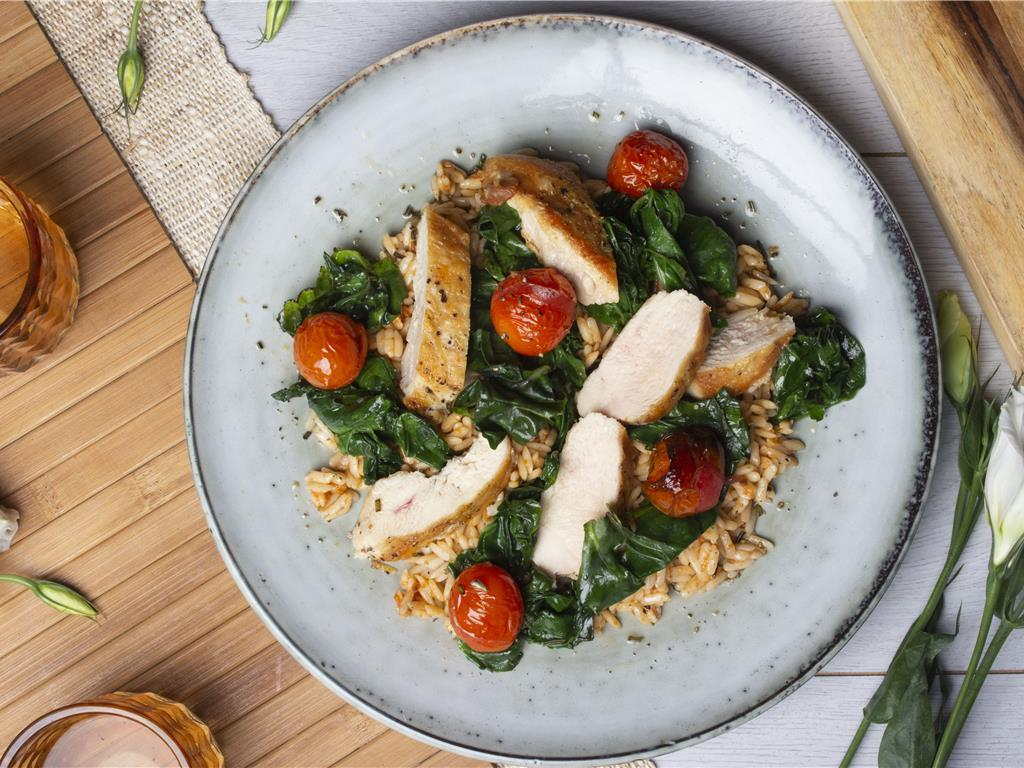 Grilled Chicken and Orzo