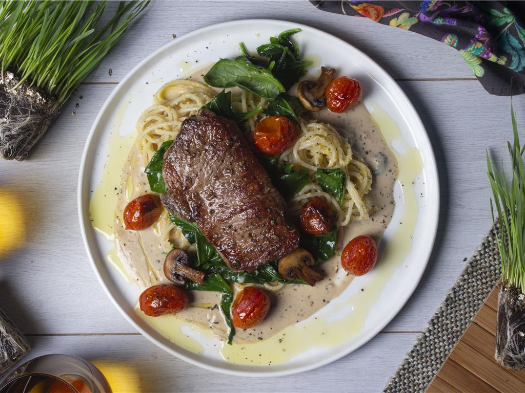 Seared Sirloin with Mushroom Sauce