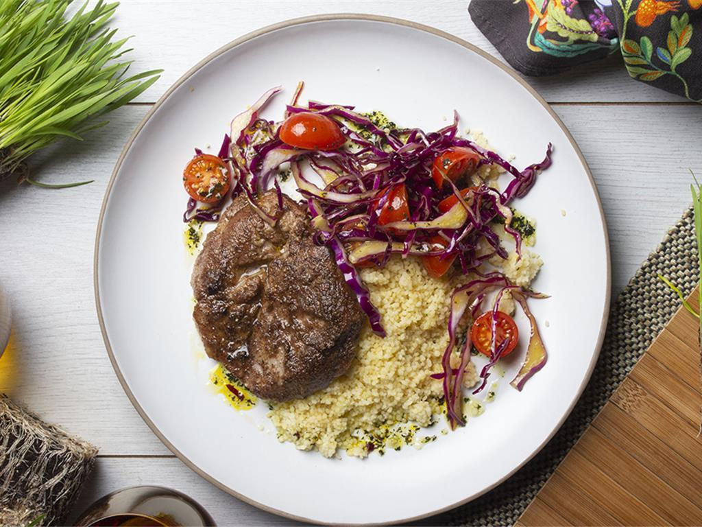 Solo: Moroccan Neck and Cabbage Tabbouleh