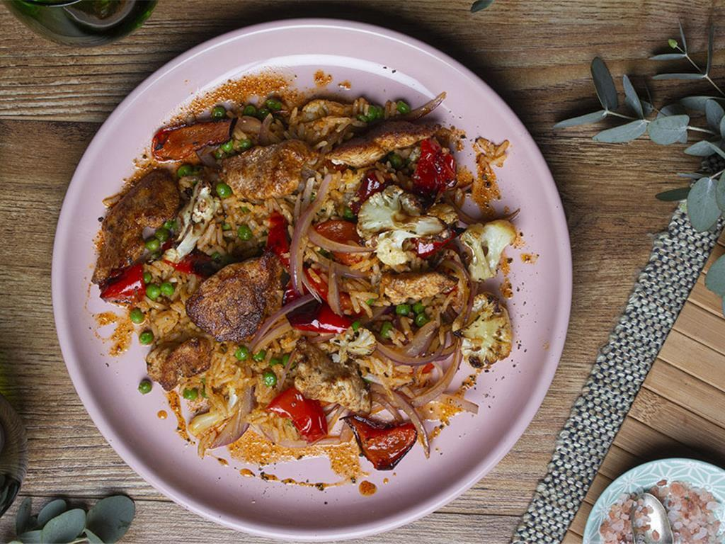 Spiced Chicken and Vegetable Rice