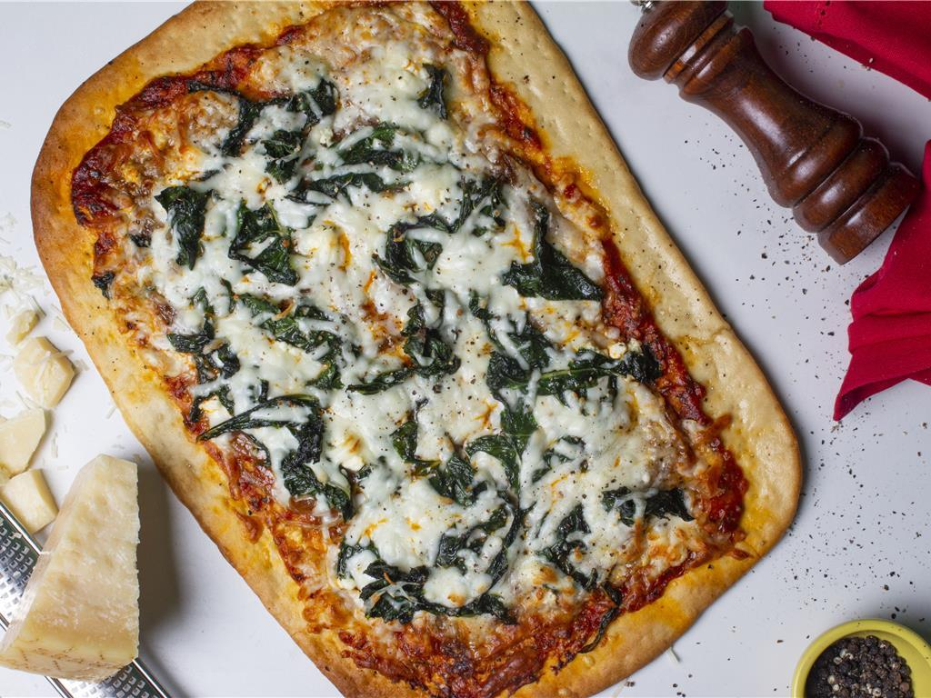 Caramelized Onion, Chard and Feta Pizza for 2