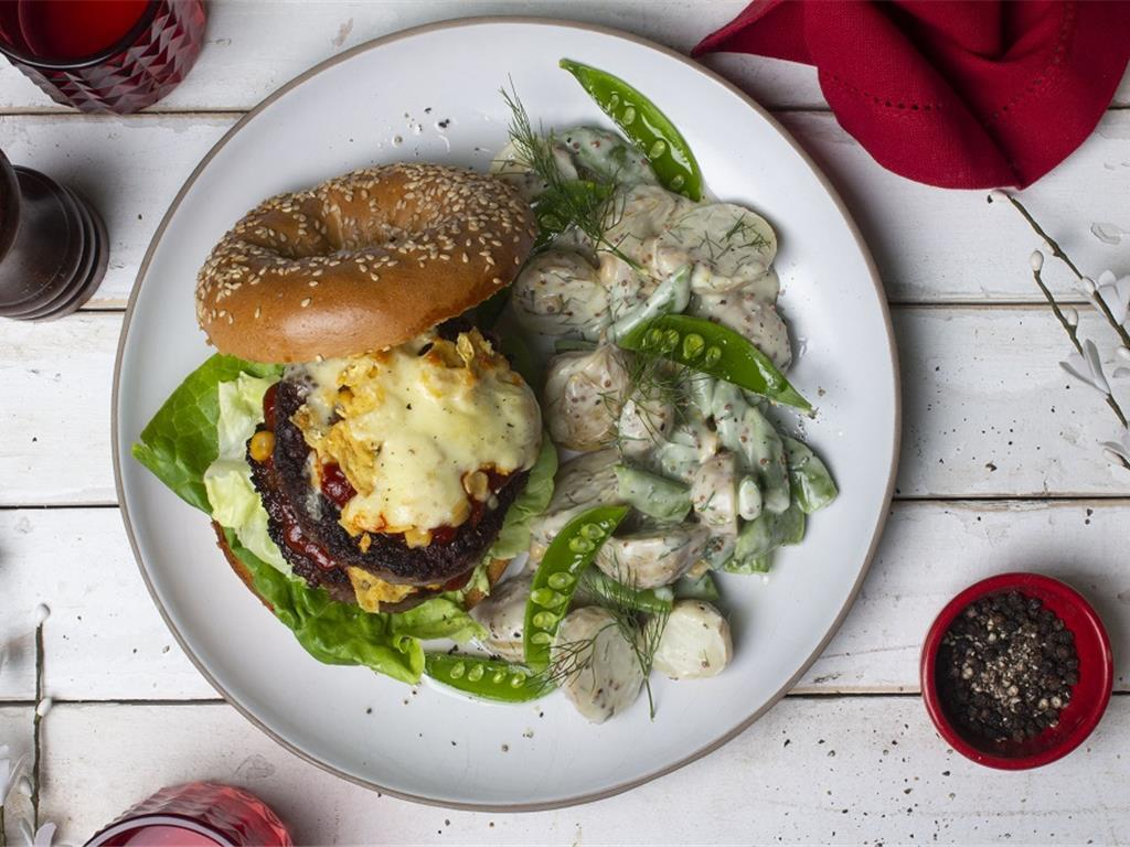 Tamale Beef Burgers and Potato Salad