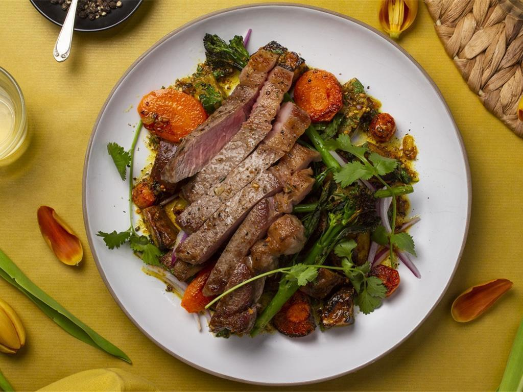 Solo: Aged Beef with Spicy Sweet Potato Hash