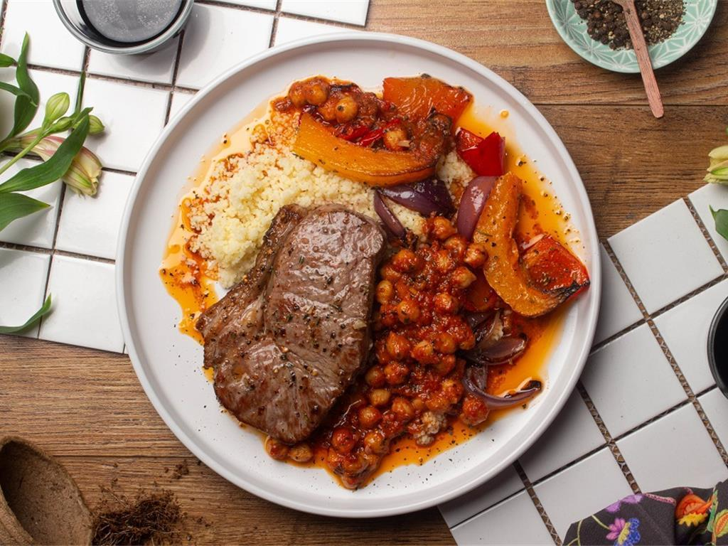 Moroccan Roast Chickpea Steak