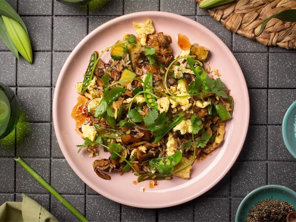 Funghi Egg Fried Rice