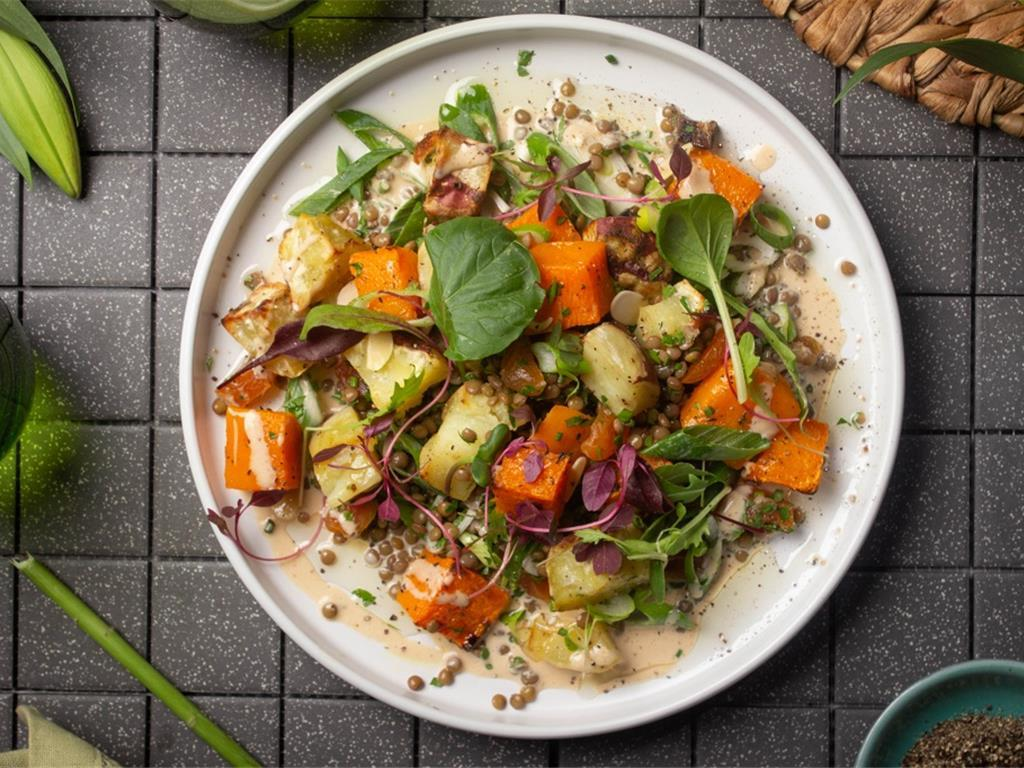 North African Squash Salad with Cashew Dressing