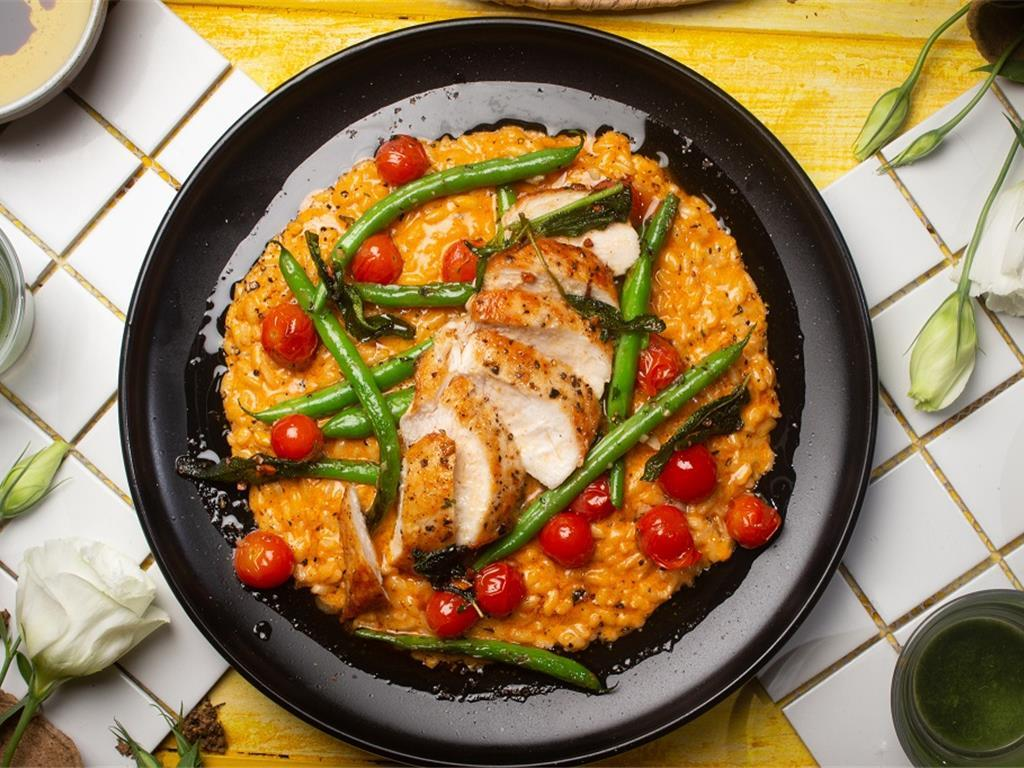 Zesty Chicken with Creamy Risotto