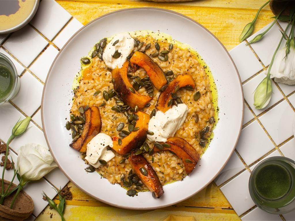 Oven Baked Butternut Risotto with Citrus