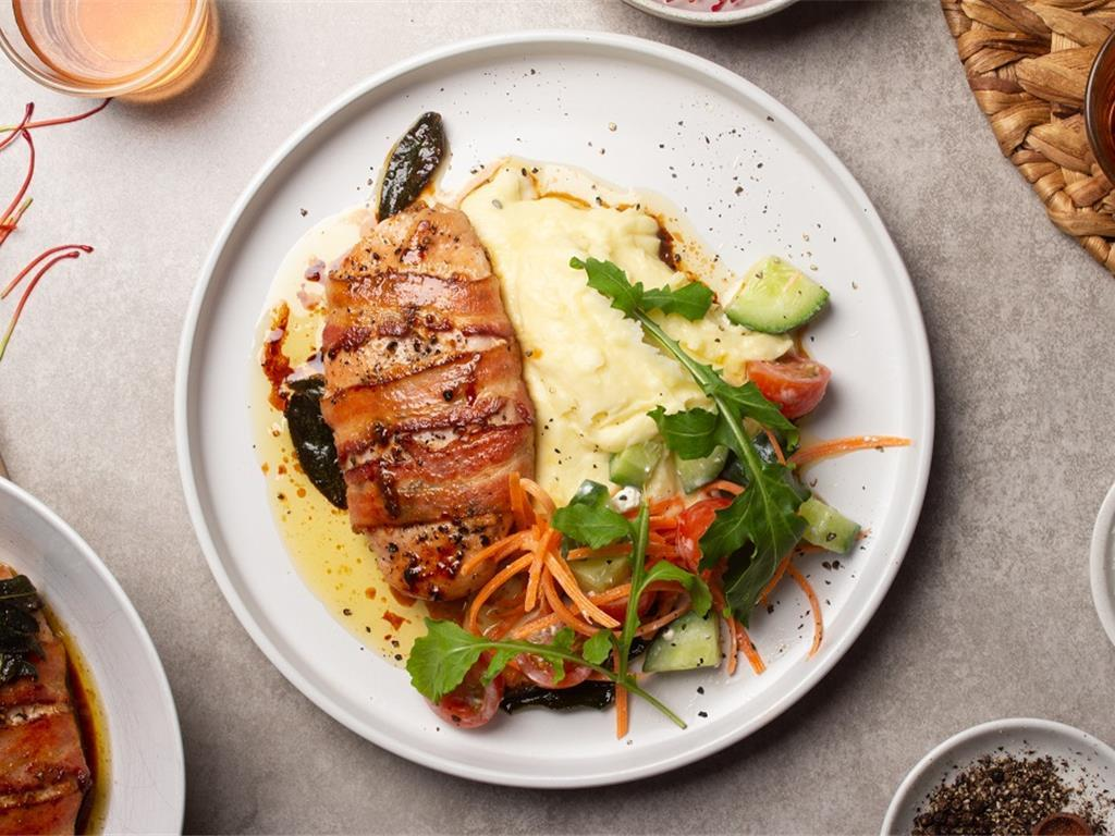 Chicken Saltimbocca with Chunky Cottage Greens