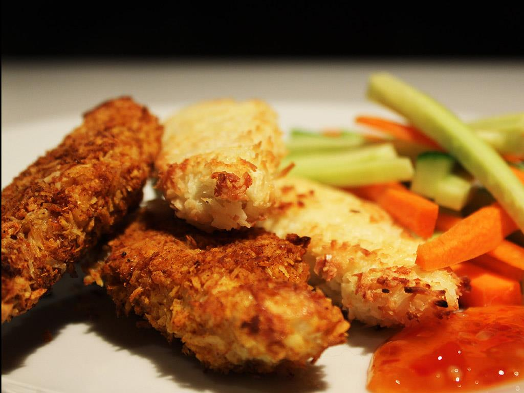 Curry & Coconut Crusted Chicken
